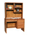 "OD-O-C100 and OD-O-C100-H - Contemporary Oak 43"" Junior Desk with Hutch - Oak For Less® Furniture"