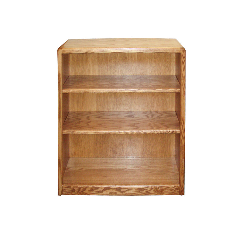 "OD-O-C2436 - Contemporary Oak Bookcase 24"" w x 12"" d x 36"" h - Oak For Less® Furniture"