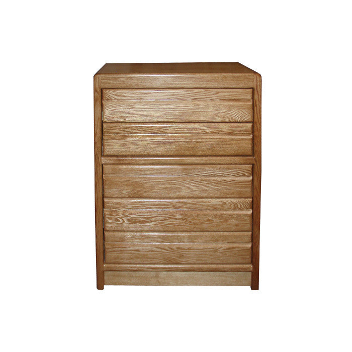OD-O-C315 - Contemporary Oak 5 Drawer Chest - Oak For Less® Furniture