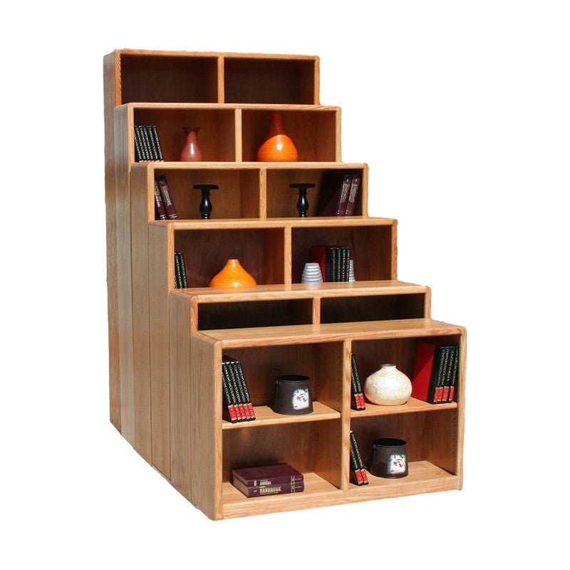 "OD-O-C4860 - Contemporary Oak Bookcase 48"" w x 12"" d x 60"" h - Oak For Less® Furniture"