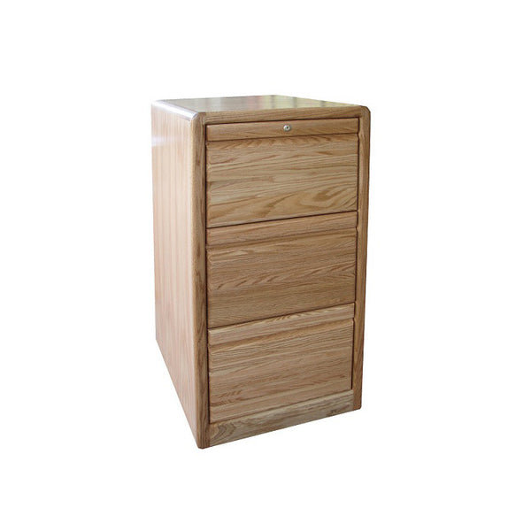 OD-O-C647 - Contemporary Oak 3 Drawer Letter-Legal Size File - Oak For Less® Furniture