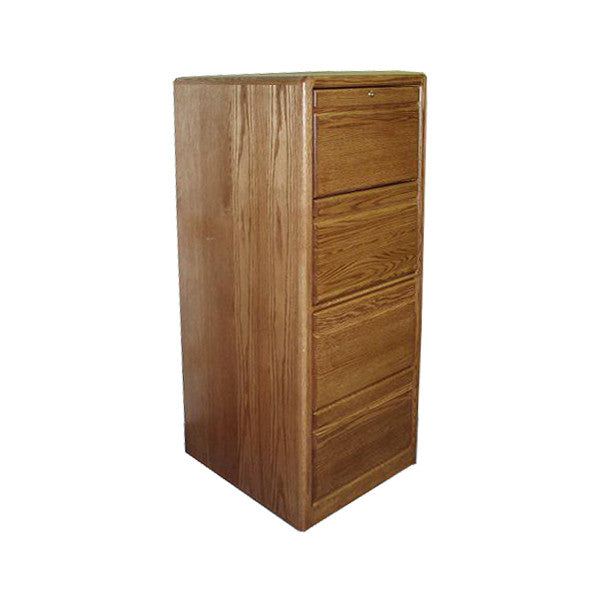 OD-O-C648 - Contemporary Oak 4 Drawer Letter-Legal Size File - Oak For Less® Furniture