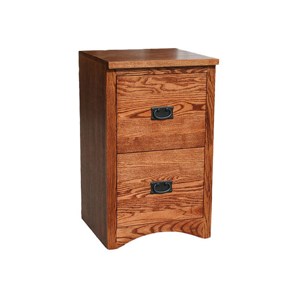 OD-O-M178 - Mission Oak 2 Drawer Letter Size File - Oak For Less® Furniture