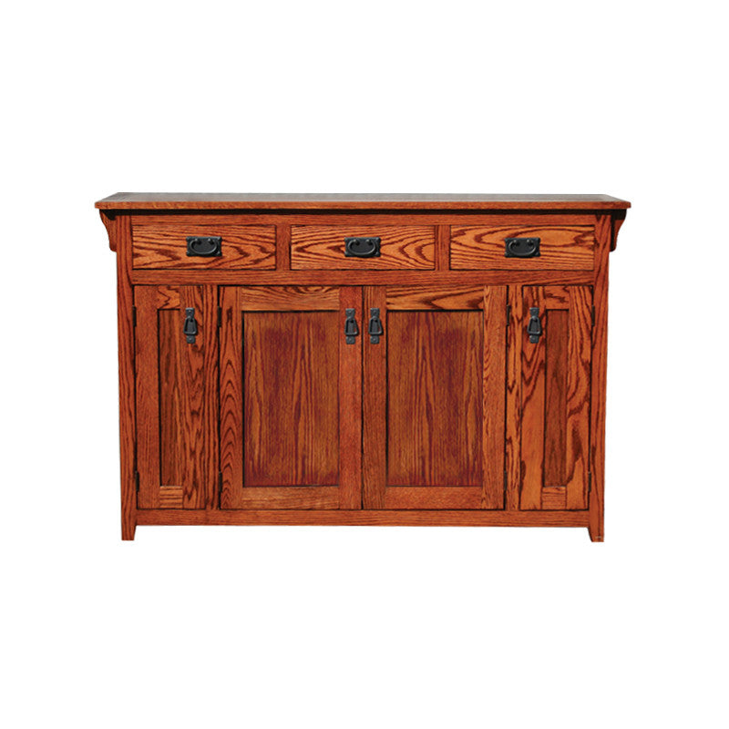"OD-O-M231-wood - Mission Oak 56"" TV Stand / Console / Buffet - Oak For Less® Furniture"