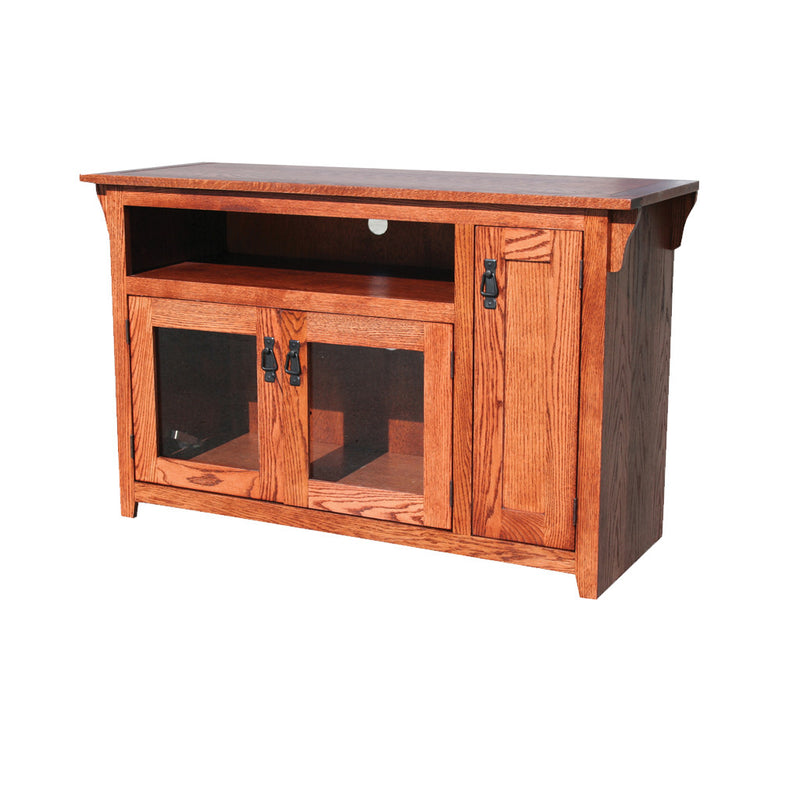 "OD-O-M237 - Mission Oak 48"" TV Stand - Oak For Less® Furniture"