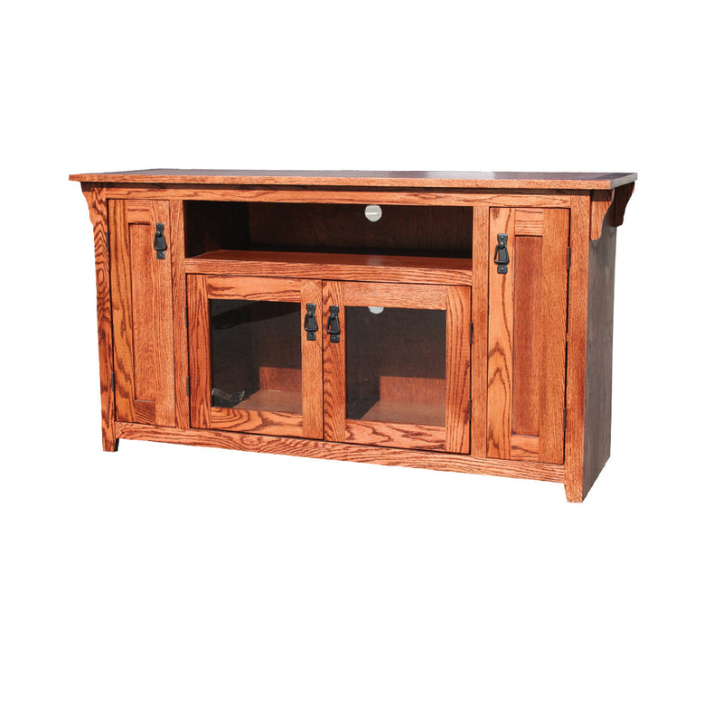 "OD-O-M238 - Mission Oak 56"" TV Stand - Oak For Less® Furniture"