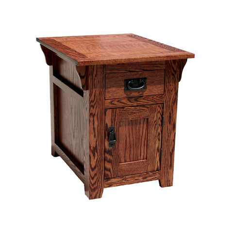 OD-O-M250 - Mission Oak Fully Enclosed End Table - Oak For Less® Furniture