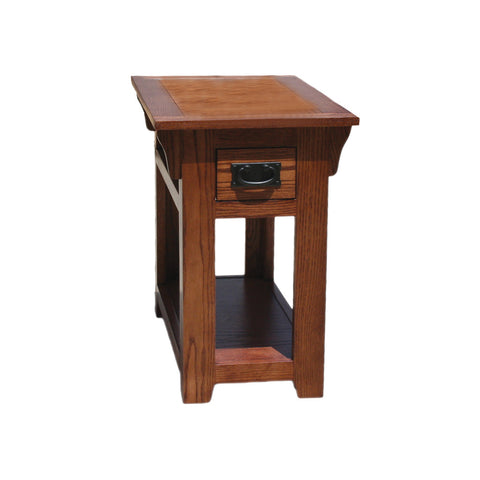 OD-O-M251 - Mission Oak Chairside End Table - Oak For Less® Furniture