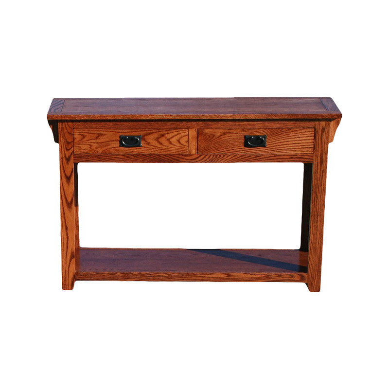 OD-O-M257 - Mission Oak Sofa Console Table - Oak For Less® Furniture