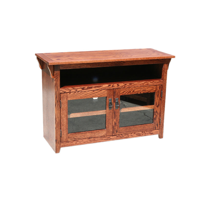 "OD-O-M275 - Mission Oak 44"" TV Stand - Oak For Less® Furniture"