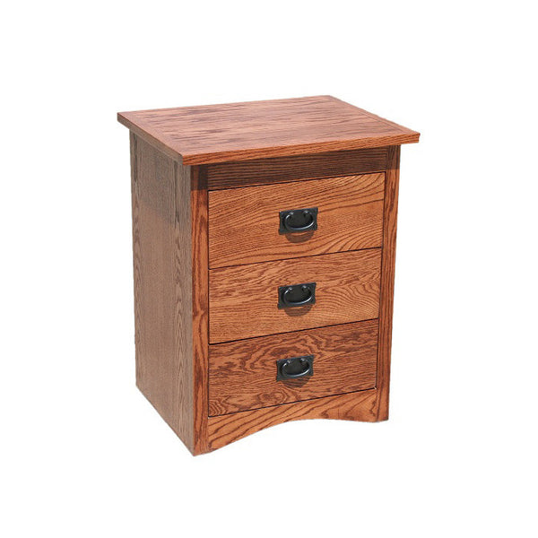 OD-O-M314 - Mission Oak 3 Drawer Nightstand - Oak For Less® Furniture