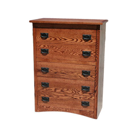 OD-O-M315 - Mission Oak 5 Drawer Chest - Oak For Less® Furniture