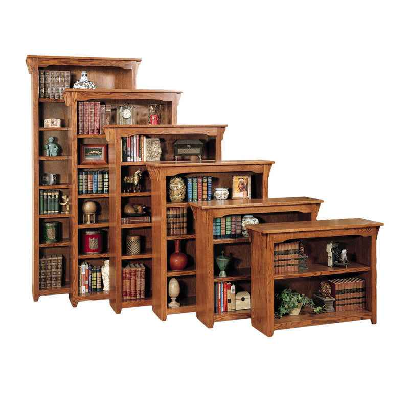 "OD-O-M3672 - Mission Oak Bookcase 36"" w x 13"" d x 72"" h - Oak For Less® Furniture"