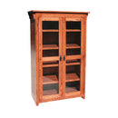 "OD-O-M3660-FD-glass - Mission Oak Bookcase 36"" w x 17.75"" d x 60"" h with Full Doors - Glass - Oak For Less® Furniture"