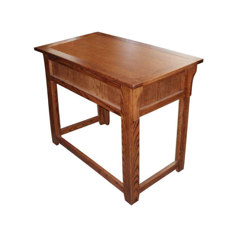 "OD-O-M370 - Mission Oak 36"" Lap Top Writing Table Desk - Oak For Less® Furniture"