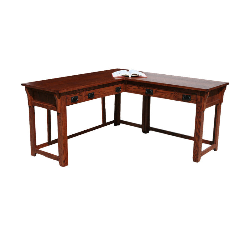 OD-O-M371 - Mission Oak Lap Top Desk and Return - Oak For Less® Furniture