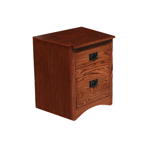 OD-O-M373 - Mission Oak 1 Drawer Roll-Away File - Oak For Less® Furniture