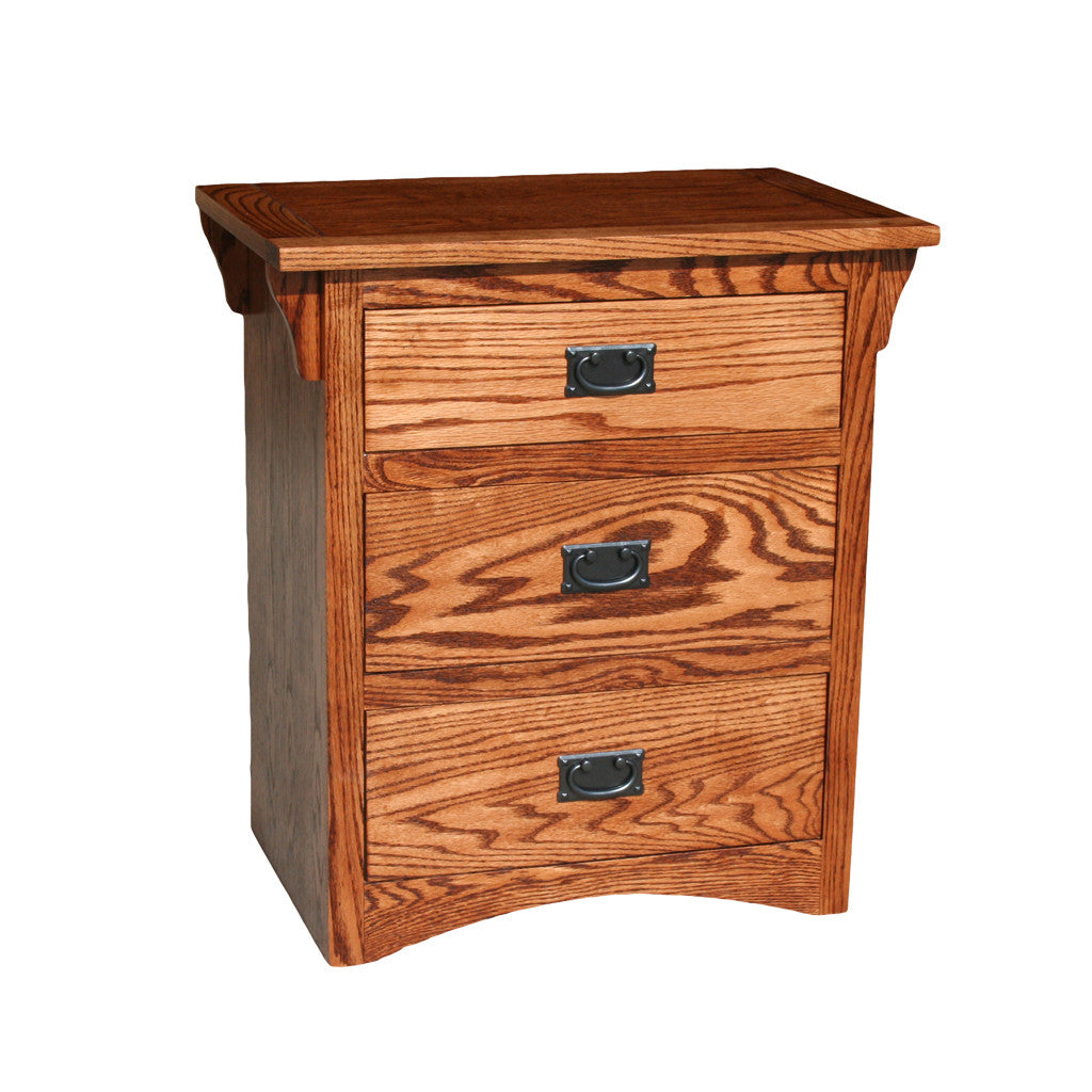 OD O M450   Mission Oak 3 Drawer Nightstand   Oak For Less®