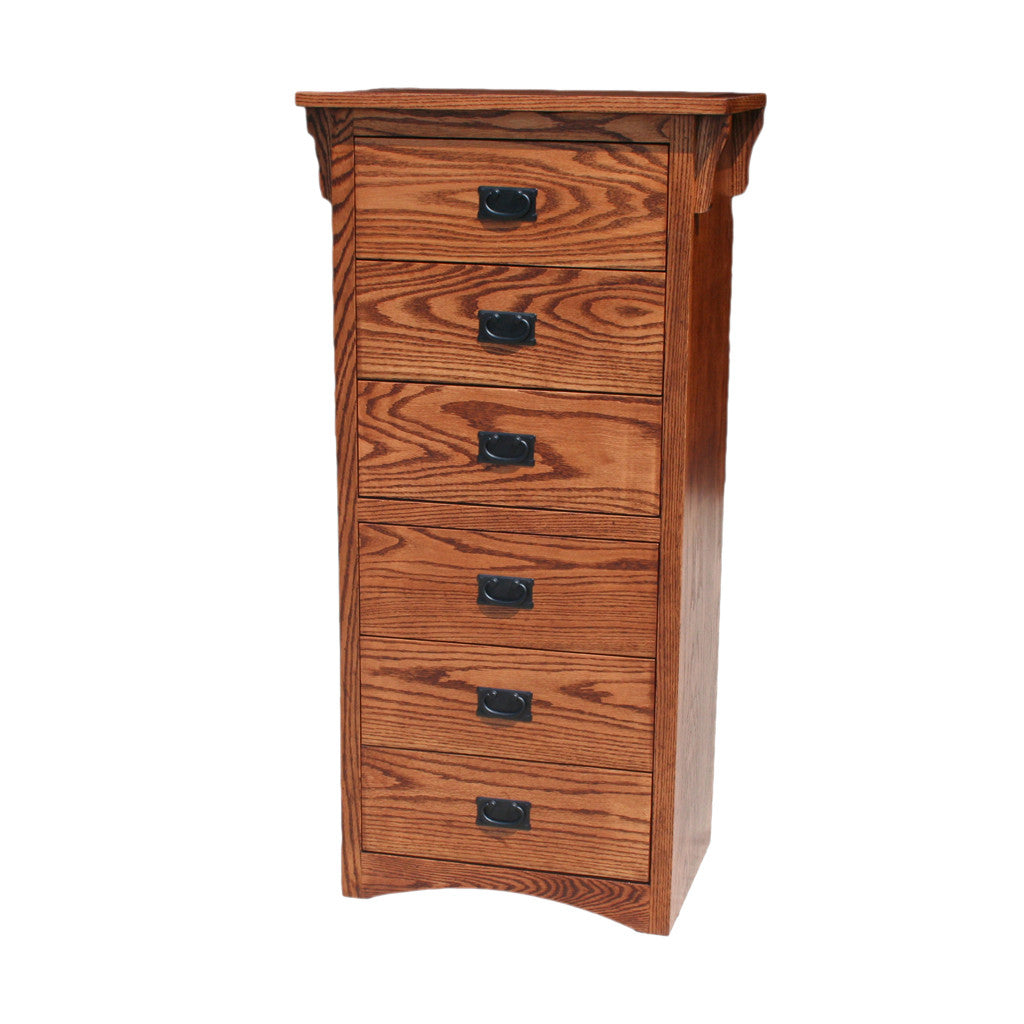 OD-O-M455 - Mission Oak 6 Drawer Lingerie Chest - Oak For Less® Furniture