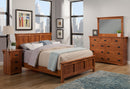 Mission Oak Panel Bed Bedroom Suite - E King Size - Oak For Less® Furniture