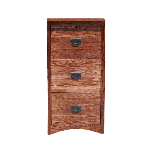 OD-O-M647 - Mission Oak 3 Drawer Letter-Legal Size File - Oak For Less® Furniture