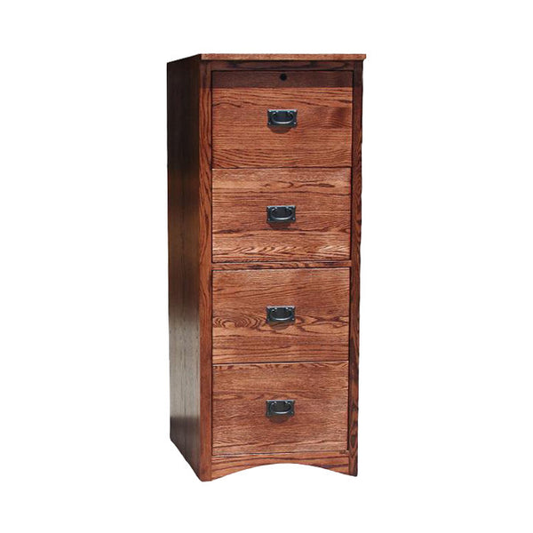 OD-O-M648 - Mission Oak 4 Drawer Letter-Legal Size File - Oak For Less® Furniture