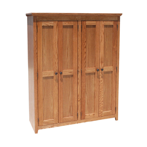 "OD-O-S4860-FD-wood - Shaker Oak Bookcase 48"" w x 17.75"" d x 60"" h with Full Doors - Wood - Oak For Less® Furniture"