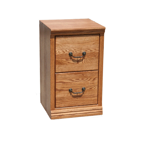 OD-O-T178 - Traditional Oak 2 Drawer Letter Size File - Oak For Less® Furniture
