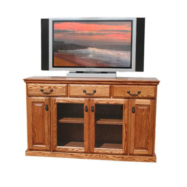 "Traditional Oak 56"" TV Stand– Oak For Less"