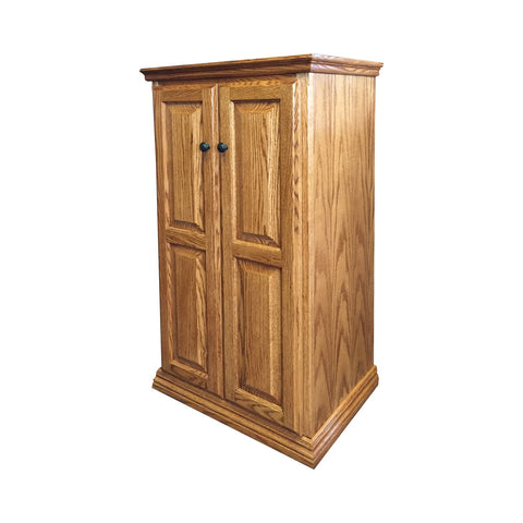 "OD-O-T2448-FD-wood - Traditional Oak Bookcase 24"" w x 17.75"" d x 48"" h with Full Doors - Wood - Oak For Less® Furniture"