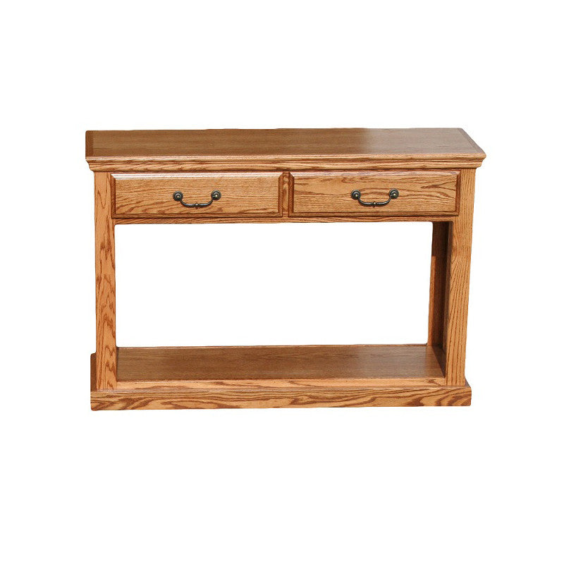 OD-O-T247 - Traditional Oak Sofa Console Table - Oak For Less® Furniture