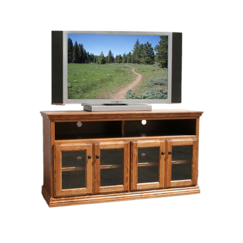 "OD-O-T279 - Traditional Oak 56"" TV Stand - Oak For Less® Furniture"