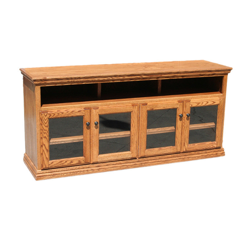 "OD-O-T280 - Traditional Oak 65"" TV Stand - Oak For Less® Furniture"