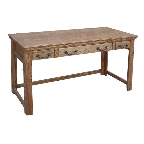"OD-O-T355 - Traditional Oak 52"" Lap Top Writing Table Desk - Oak For Less® Furniture"