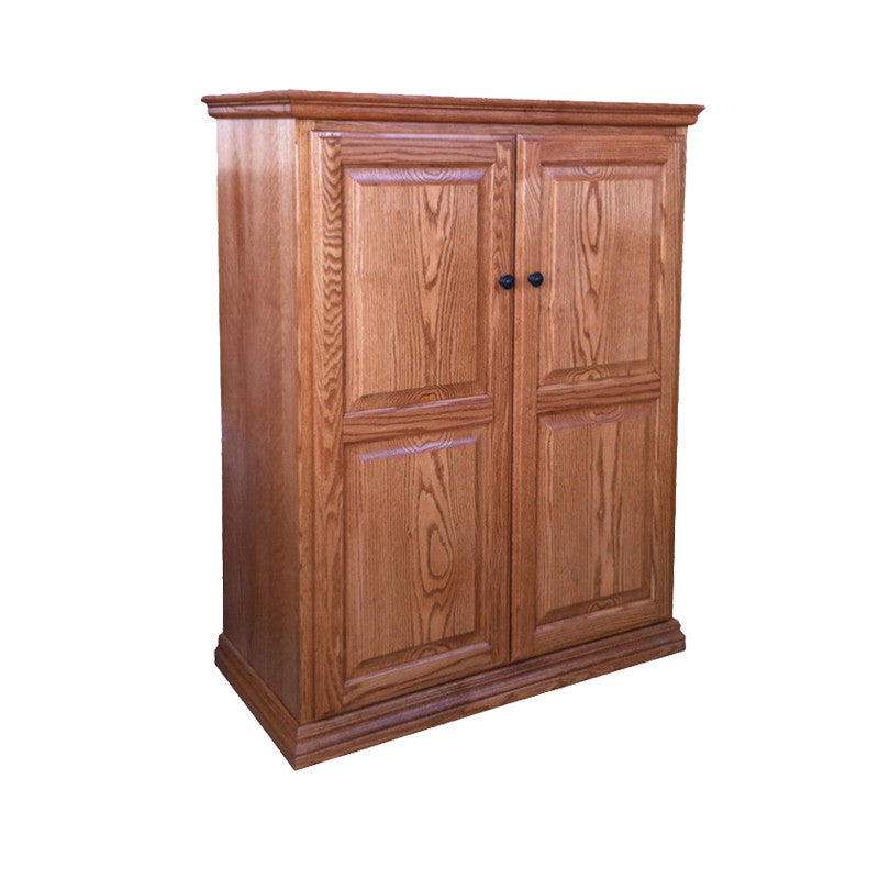 "OD-O-T3648-FD-wood - Traditional Oak Bookcase 36"" w x 17.75"" d x 48"" h with Full Doors - Wood - Oak For Less® Furniture"