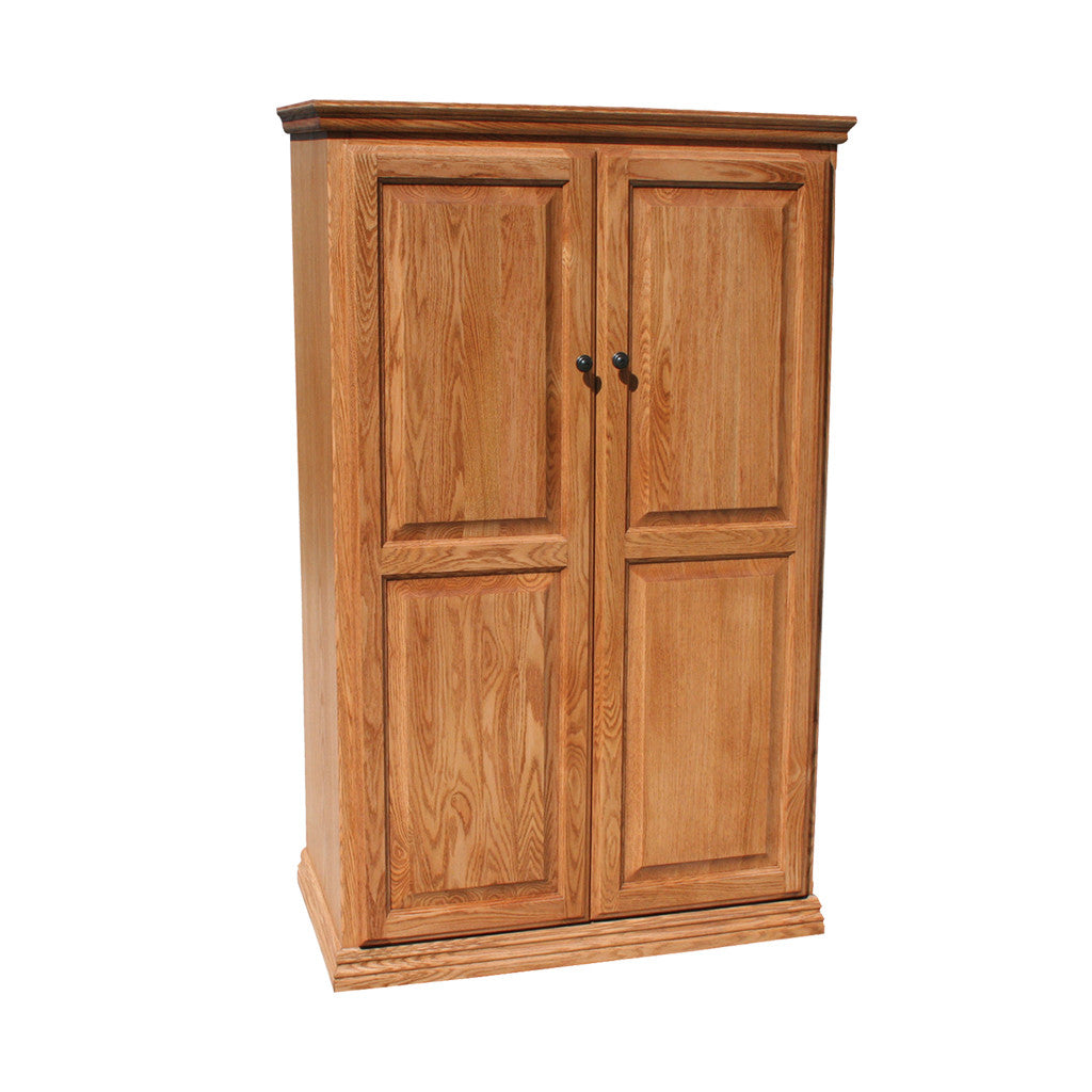 "OD-O-T3660-FD-wood - Traditional Oak Bookcase 36"" w x 17.75"" d x 60"" h with Full Doors - Wood - Oak For Less® Furniture"