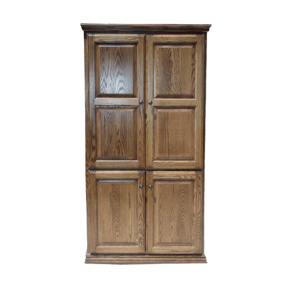 "OD-O-T3684-FD-wood - Traditional Oak Bookcase 36"" w x 17.75"" d x 84"" h with Full Doors - Wood - Oak For Less® Furniture"