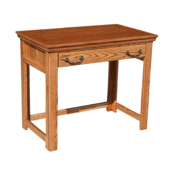"OD-O-T370 - Traditional Oak 36"" Lap Top Writing Table Desk - Oak For Less® Furniture"