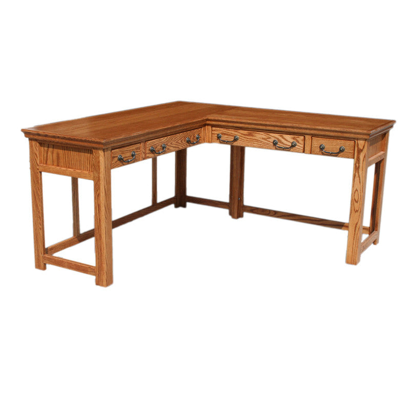 OD-O-T371 - Traditional Oak Lap Top Desk and Return - Oak For Less® Furniture