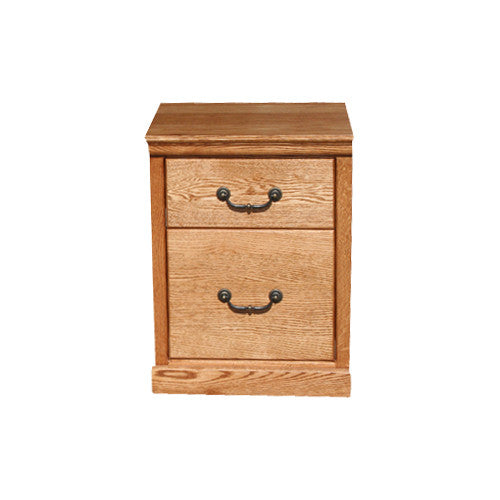 OD-O-T373 - Traditional Oak 1 Drawer Roll-Away File - Oak For Less® Furniture