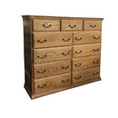 Traditional Oak 11 Drawer High Boy Dresser - Oak For Less® Furniture