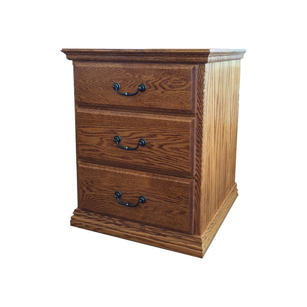 OD-O-T450 - Traditional Oak 3 Drawer Nightstand - Oak For Less® Furniture