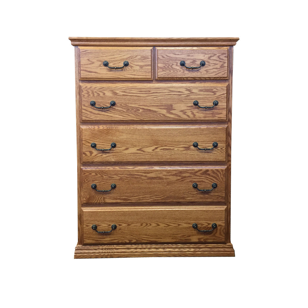 OD-O-T451 - Traditional Oak 6 Drawer Chest