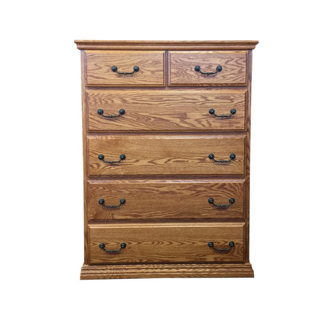 OD-O-T451 - Traditional Oak 6 Drawer Chest - Oak For Less® Furniture