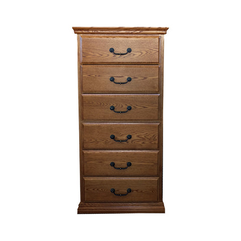 OD-O-T455 - Traditional Oak 6 Drawer Lingerie Chest - Oak For Less® Furniture