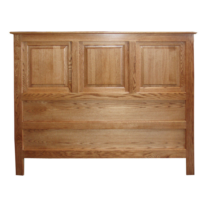 OD-O-T467-Q-HB - Traditional Oak Raised Panel Headboard - Queen Size - Oak For Less® Furniture
