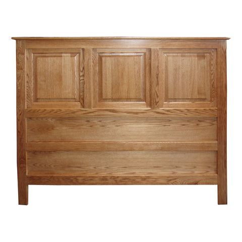 OD-O-T467-F-HB - Traditional Oak Raised Panel Headboard - Full Size - Oak For Less® Furniture