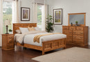 Traditional Oak Panel Bed Bedroom Suite - Cal King Size - Oak For Less® Furniture