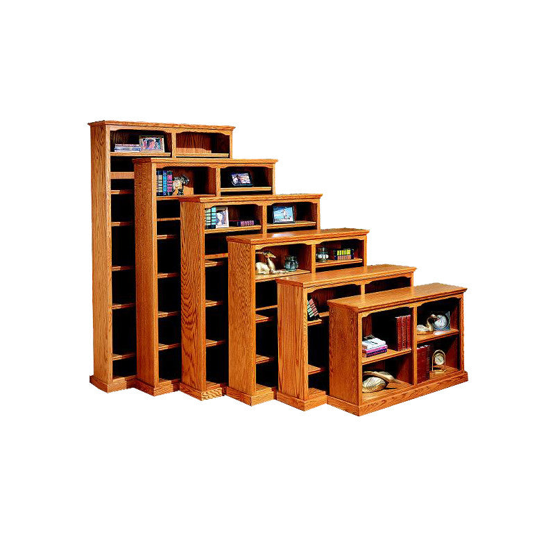 "OD-O-T4860 - Traditional Oak Bookcase 48"" w x 13"" d x 60"" h - Oak For Less® Furniture"