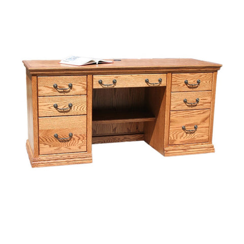 "OD-O-T653 - Traditional Oak 62"" Executive Desk - Oak For Less® Furniture"
